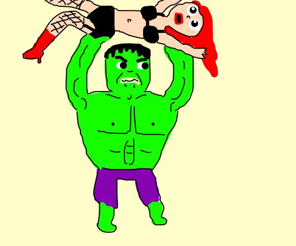 Hulk Destroys a stripper