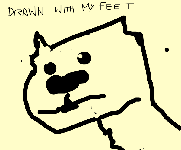 Draw something with your feet