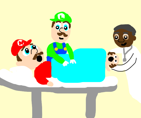 Mario giving birth