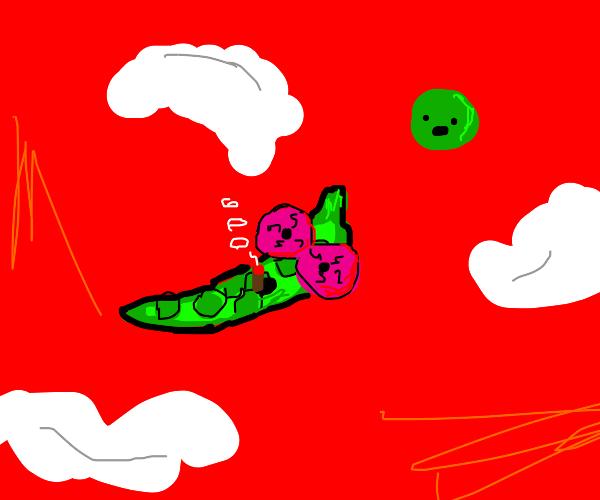 Pea Pod Smokes Pot