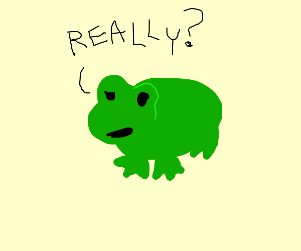 A questioning frog
