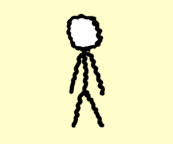 Squiggly stick man