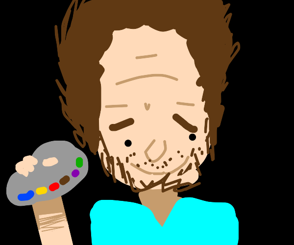 Picture of Bob Ross (draw if your Serious)