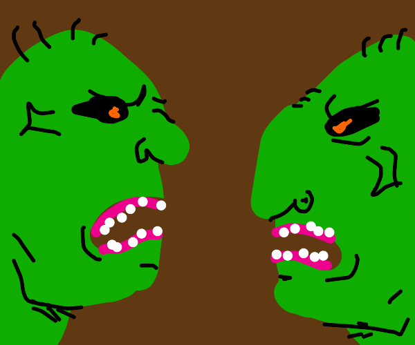 Ogres mad at each other