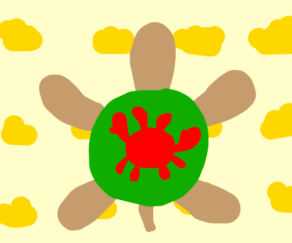 Crab and turtle