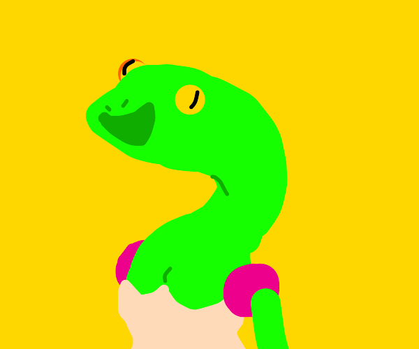 Fashionale lizard in a nice dress