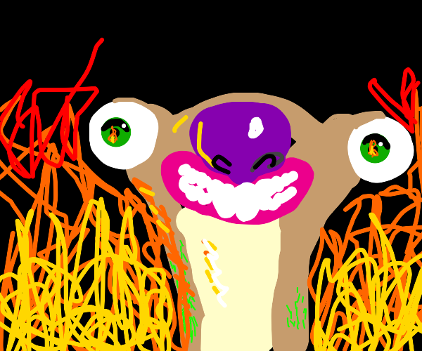 Sid the Sloth watching the end of the world