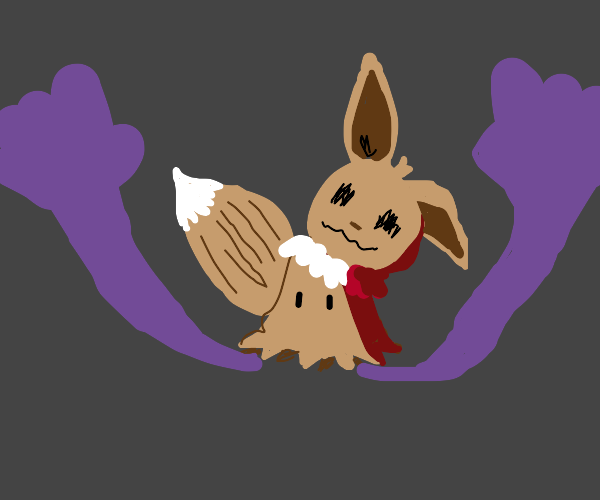 mimikyu but for eevee instead of pikachu