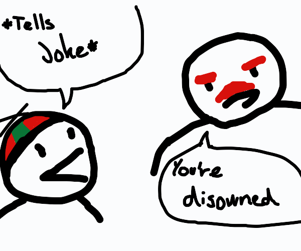 Father disowns son for telling a joke