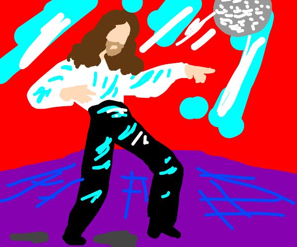 disco Jesus jives At the function
