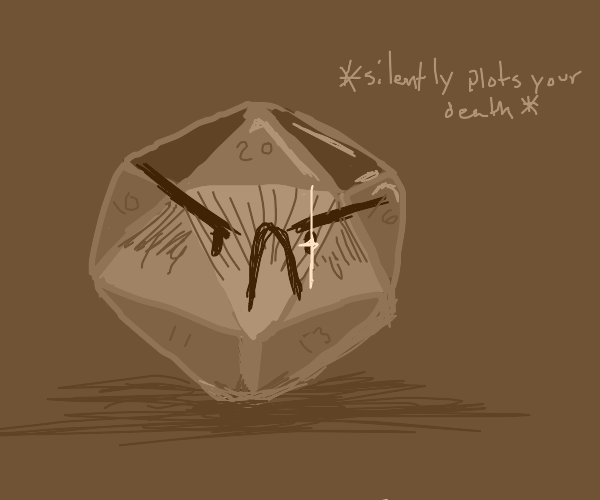 Angry DND dice