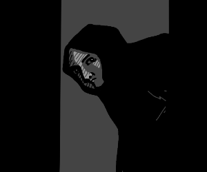 shady hooded figure