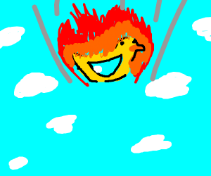flaming duck falls from the sky