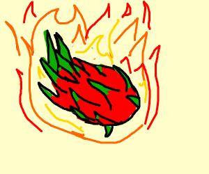dragonfruit on fire