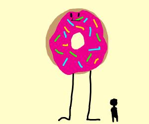 Tall donut.