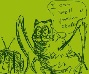 Jon hiding from Garfield