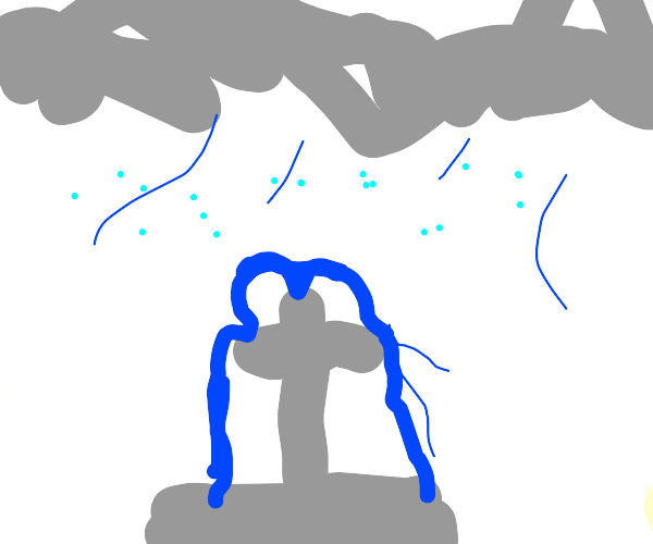 Fountain in a Hailstorm