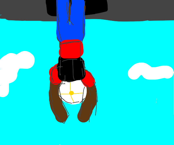 Guy skydiving
