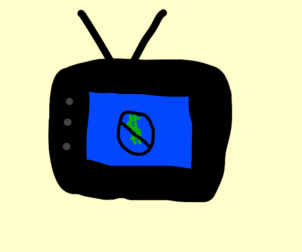 Tv with a do not dollar sign around it