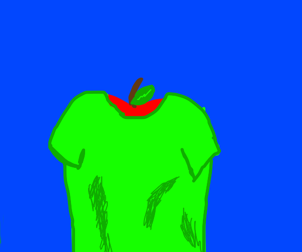 Apple in a t-shirt