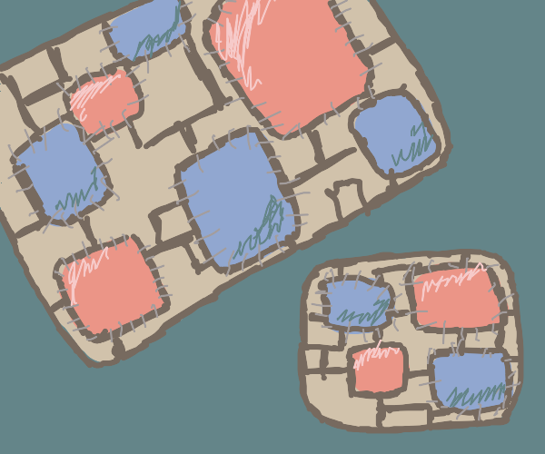 Big quilt; small quilt