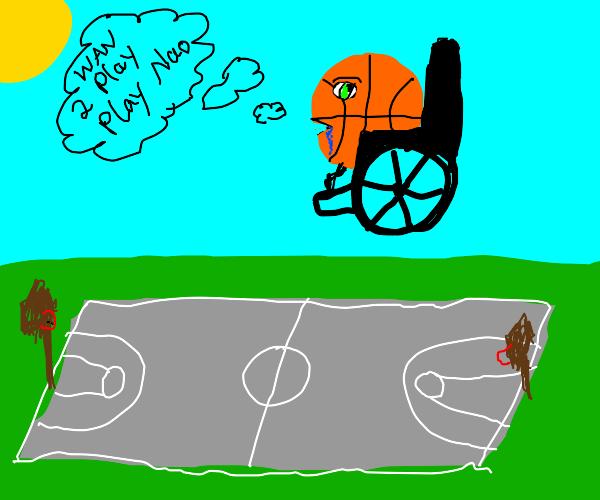 A wierd handicaped basketball