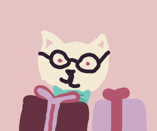 Teacher cat got you a present