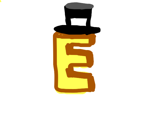 E!  In a top hat.