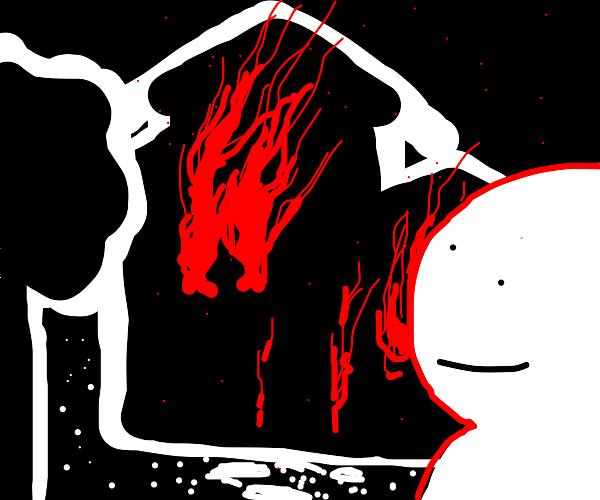 pyromaniac feels better after a job well done