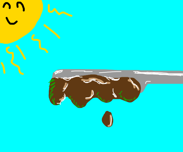 Nutella on knife does photosynthesis