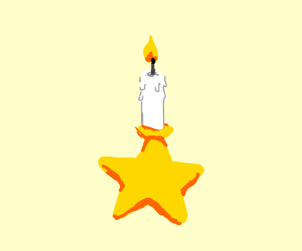 candle on a star