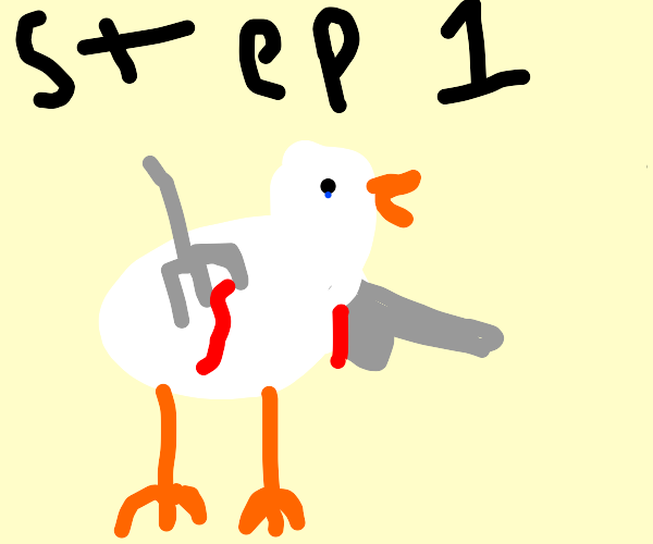 Directions to eat a chicken