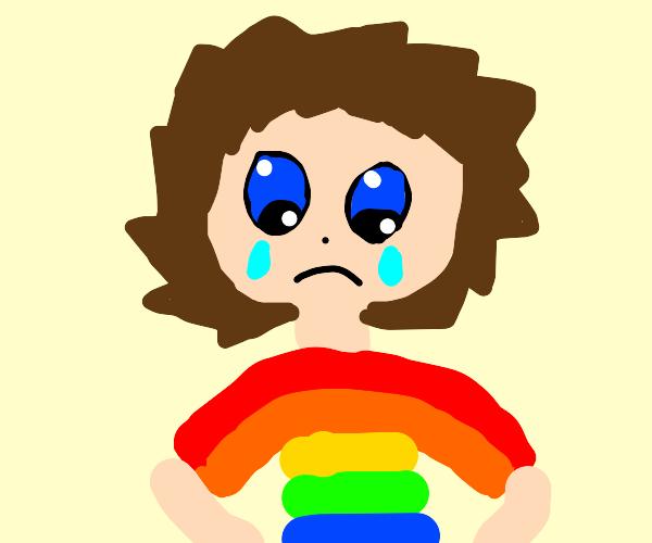 Gay Anime Boy hates life