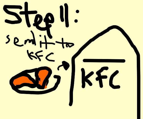 Step 10 make fried chicken