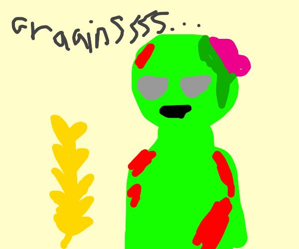 Zombie vegan moans for graainssss