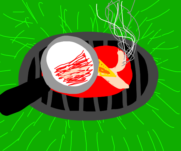 Grilling with a magnifying glass