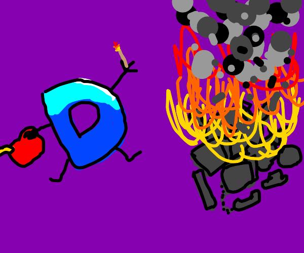 D burning stuff