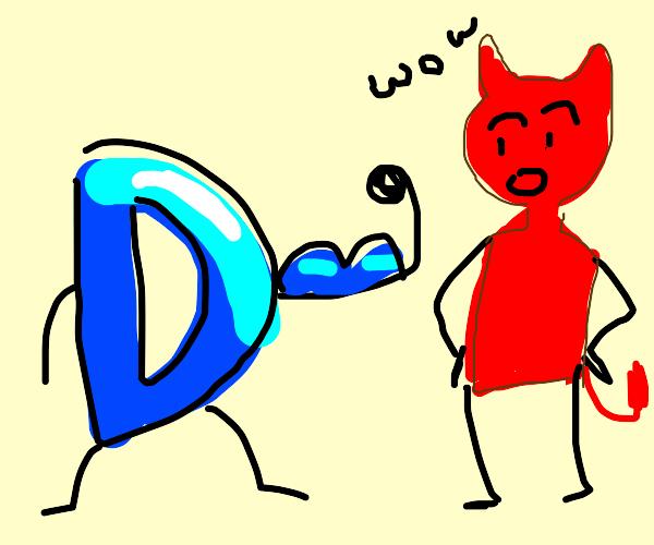 satan is impressed by drawception guy