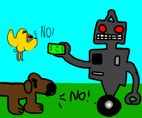 Animals do not accept robot currency