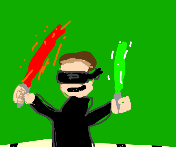 Using lightsabers in vr