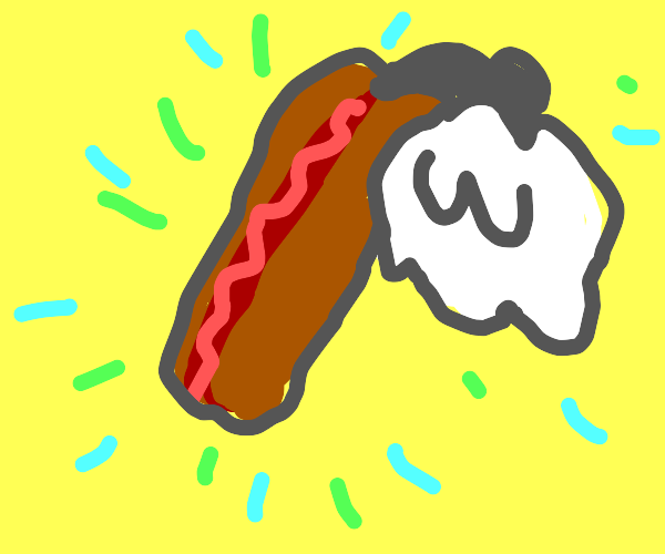 Hot dog with angel wings