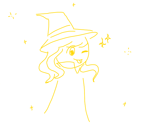 witch with blond hair
