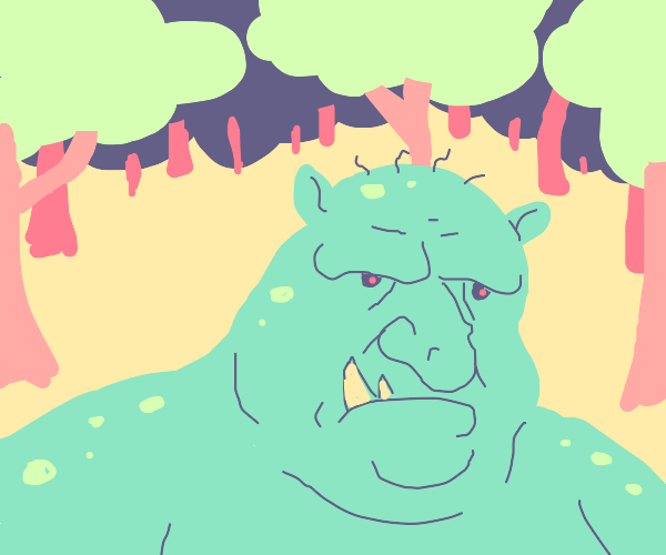ugly troll in a forest