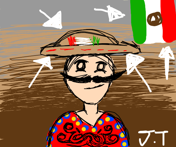 mexican boy in mexican hat