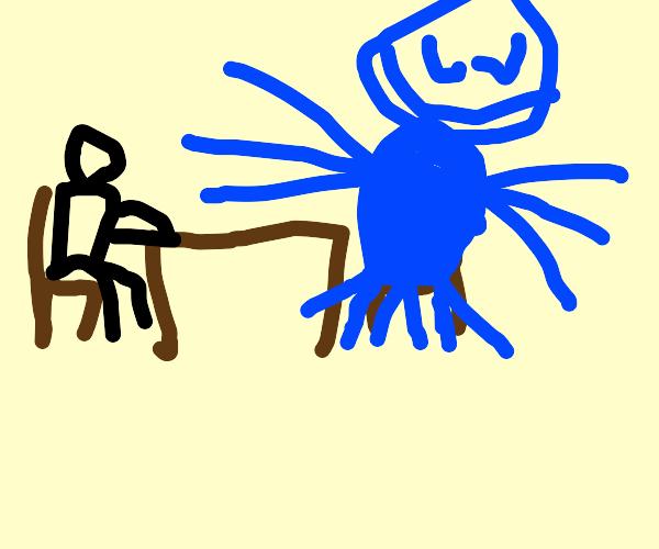 Dude dating a blue alien