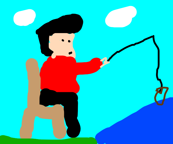 Elvis fishing