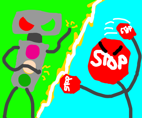 Battle: Traffic Light v.s. Stop Sign