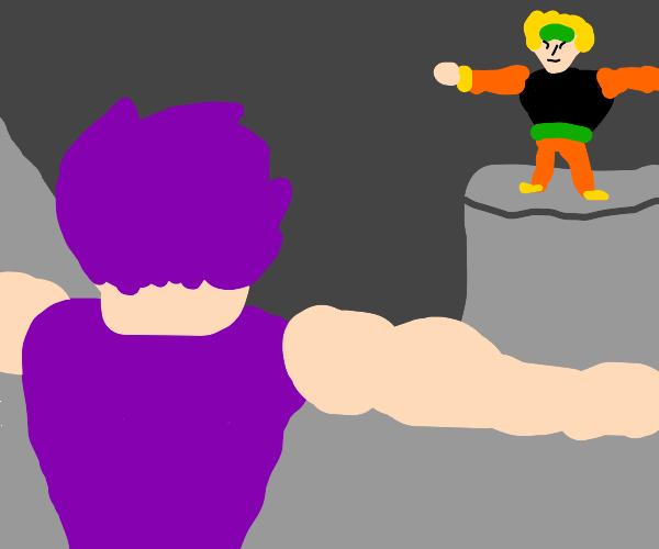 jojo characters T pose to assert dominance