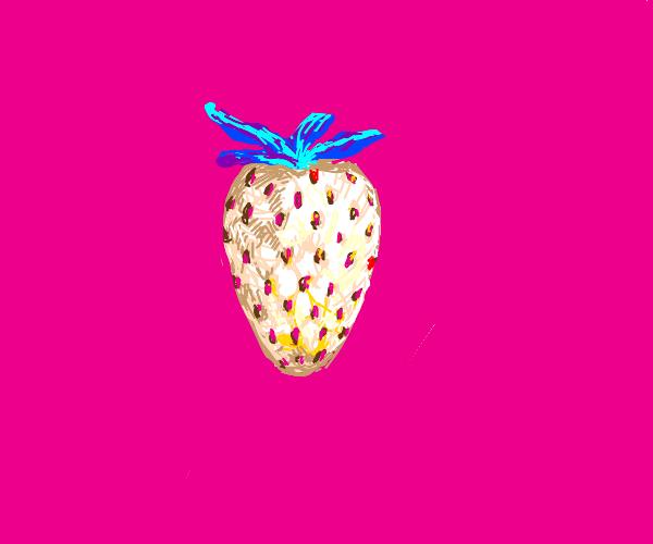 aesthetic white strawberry