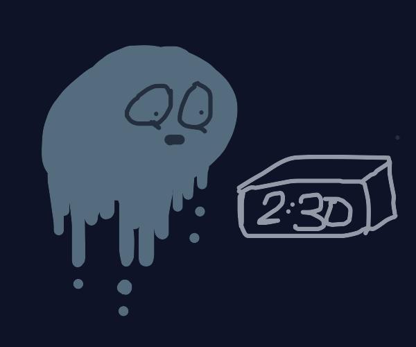 blue blob man is shocked that it's 2:30